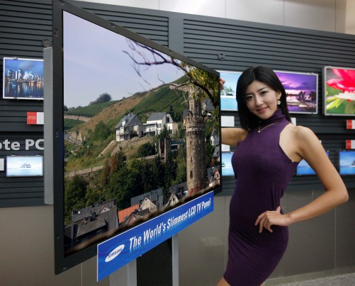 3.9mm LCD TV panel