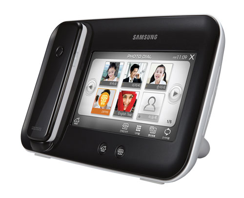 Samsung Clubs Digital Photo Frame With Cordless Phone
