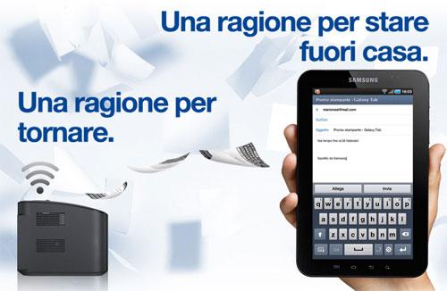 Samsung Galaxy Tab Promo in Italy
