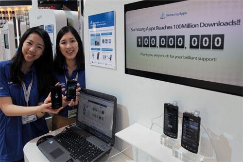 Samsung Apps 100m milestone