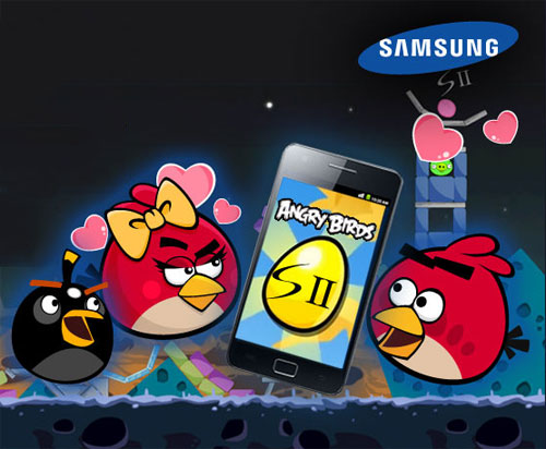 Galaxy S II in Angry Birds