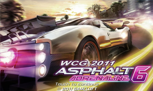 Asphalt 6 WCG for Galaxy S II