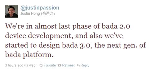 bada 3.0 tweet