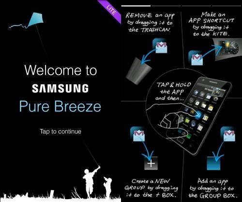 Samsung Pure Breeze UI