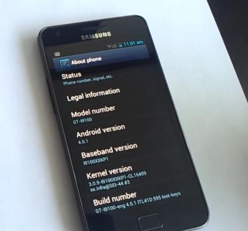 Android 4 0 1 Custom ROM leaked for Galaxy S II - Sammy Hub