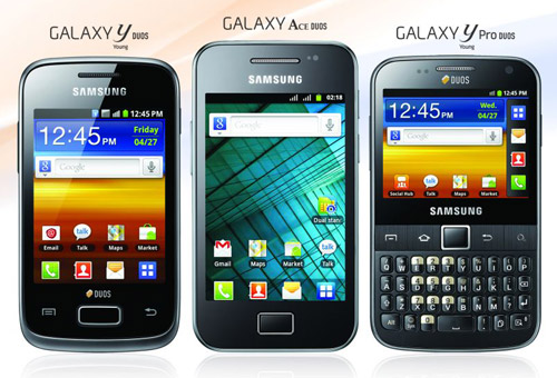Samsung Galaxy Duos phones  in India