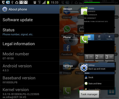 Galaxy S II Ice Cream Sandwich