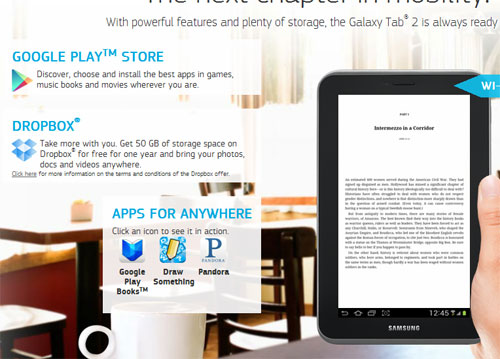 Galaxy Tab 2 Dropbox offer