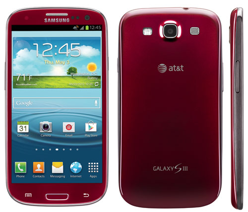 Galaxy S III in Garnet Red