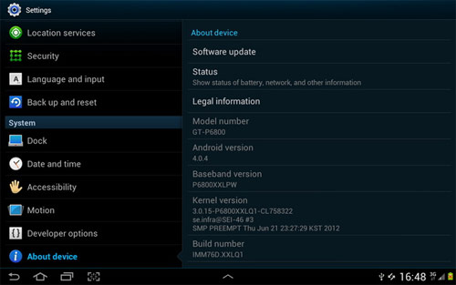 ICS for Galaxy Tab 7.7