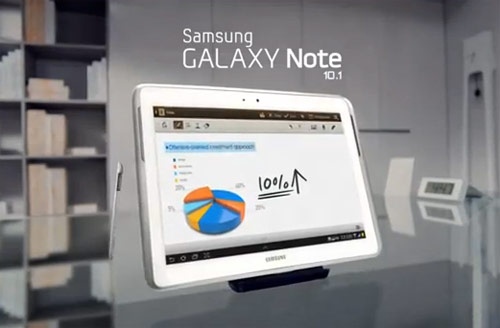 Galaxy Note 10.1 ad