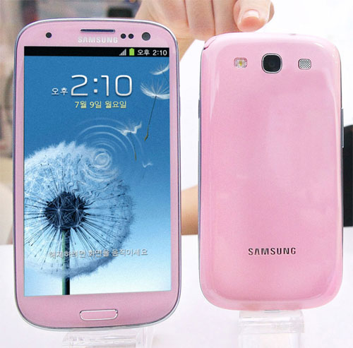 Galaxy S III in Martian Pink