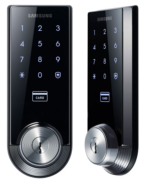samsung sns intros shs 3320 smart door lock sammy hub. Black Bedroom Furniture Sets. Home Design Ideas