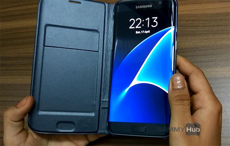 Galaxy S7 edge LED Flip Cover