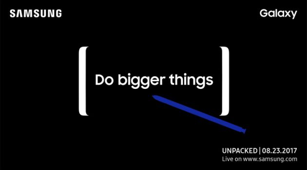 Samsung will announce Galaxy Note 8 on August 23