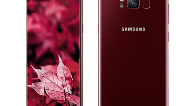 Limited-Edition Galaxy S8 in Burgundy Red now available