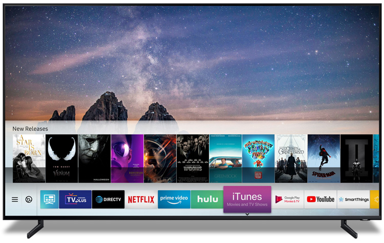 iTunes Movies app on Samsung TV