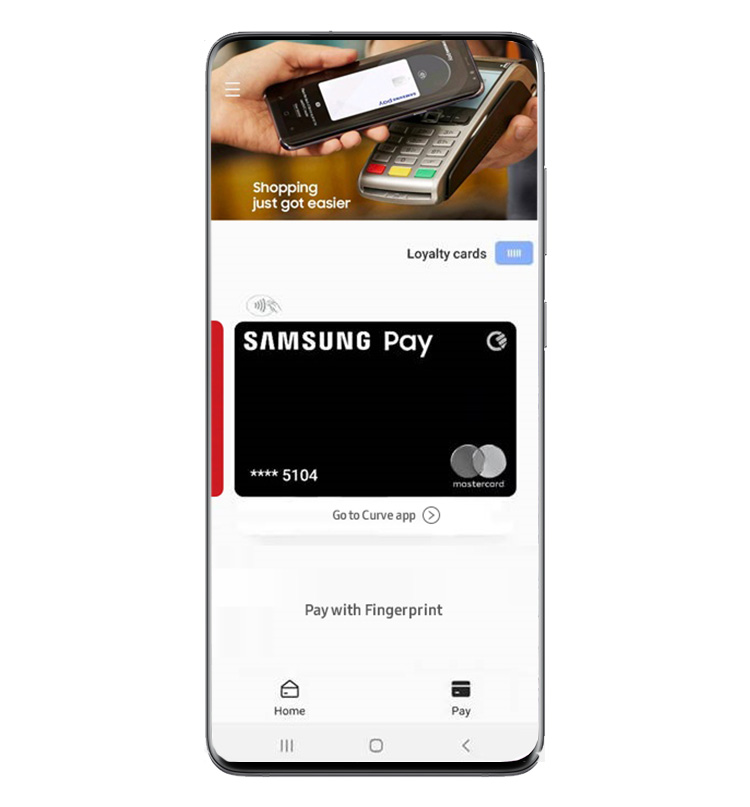 Samsung Pay Card powered by Curve