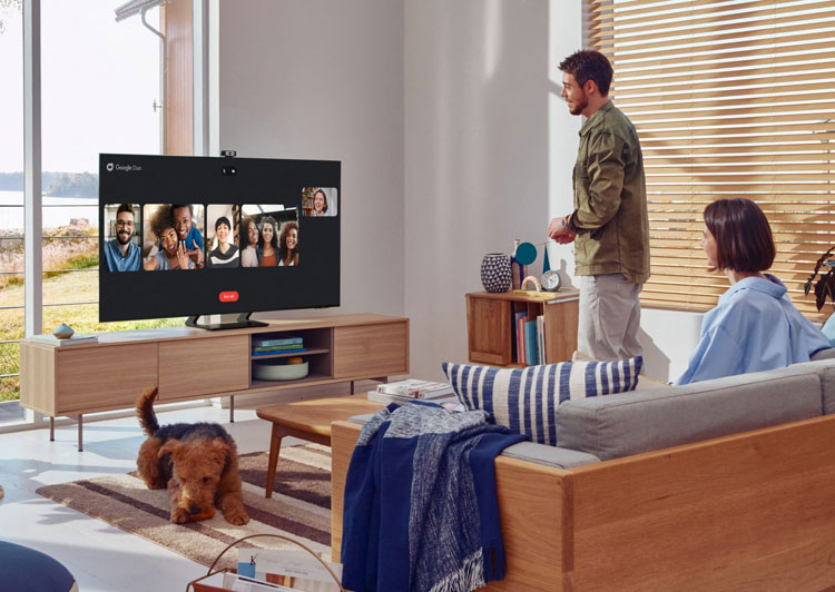 Google Duo on Samsung Neo QLED TV